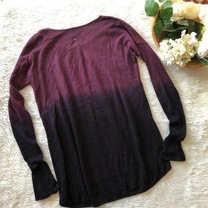 RARE Lululemon Ombre Bordeaux Deep Purple Sweater